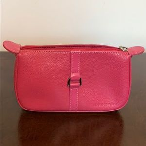 Longchamp pink leather case/pouch
